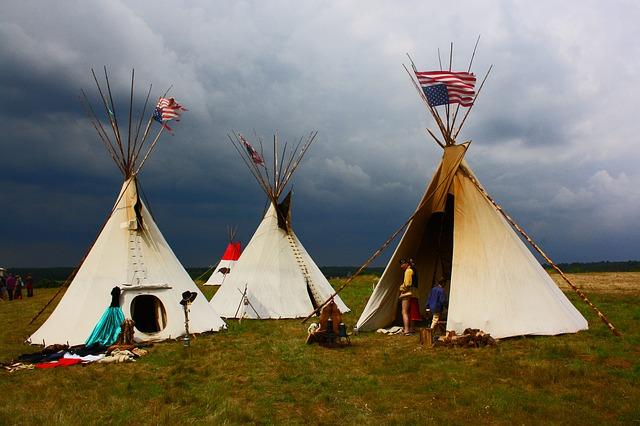 indiáni a stany